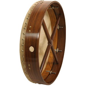 "Bodhran, 18"", Tune, Rosewood, Double,Cross"