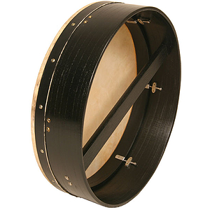"Bodhran, 18""x5"", Tune, Black, Single"