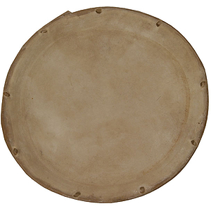 Dholak Goatskin Unloaded Head, 7&quot;