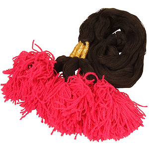 Dhol Fringe, 3 Pc., Solid Color