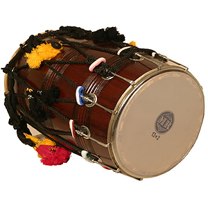 Dhol, Synthetic and Goatskin Heads