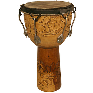 Djembe, 12&quot;x22&quot;, Rosewood, Bolt Tuned