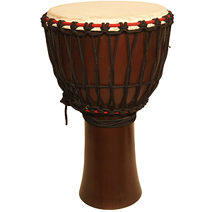 "Djembe, 13"" X 24"", Mango Wood, Dark"