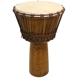 "Djembe, 13"" X 24"", Mango Wood, Light"