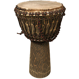 Djembe, 10&quot; X 20&quot;, Hand Hewn