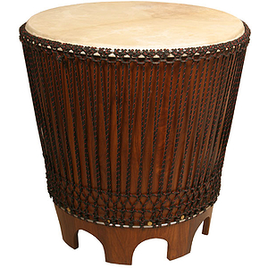 "Drum End Table, 24"" With Beater"