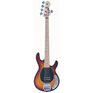 Vintage Guitars EST96 5-string Bass Guitar - Flame Top Brownburst