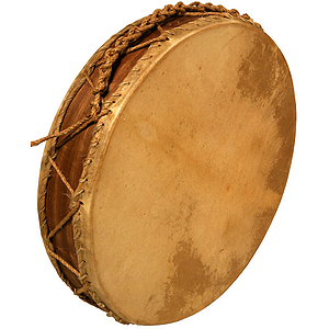 Frame Drum, Double Rope Tuned, W Beater