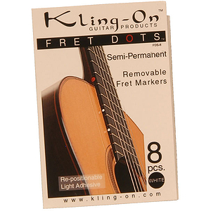 Kling-On Fret Dots, Semi-Permanent, 8 Pc