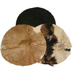 "Goatskin, 14"" With Hair, Thick"