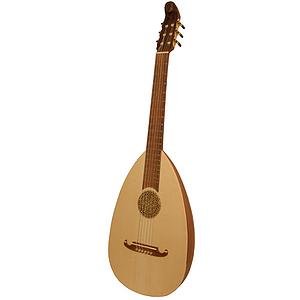 Lute-Guitar, 6 String, Rosewood, Gears
