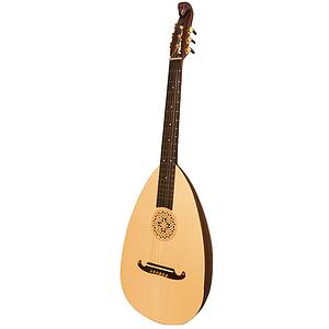 Lute-Guitar, Steel, Rosewood, Gears