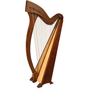 Meghan Harp TM, 36 Strings, Knotwork