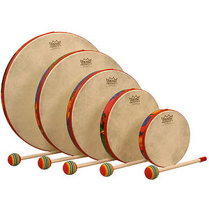 Remo Hand Drum Set of 5, Rain Forest