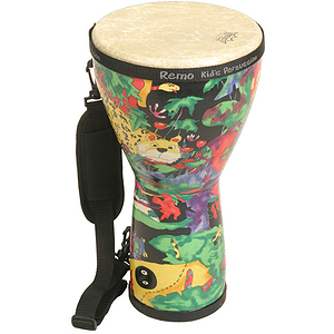 Remo Djembe, 8&quot; X 15&quot;, Rain Forest