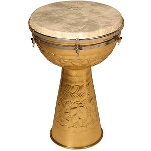 "Brass Doumbek, 10""x15"", Fiberskyn Head"