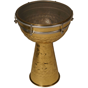 Brass Doumbek, 10&quot;x15&quot;, Synthetic Head