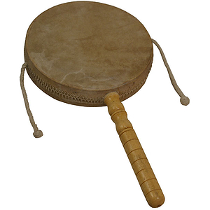Monkey Drum with Handle, 8&quot;