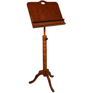 Music Stand, Colonial, Double Shelf