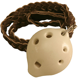 "Ocarina, Necklace, Soprano D 3x1.5"", White"
