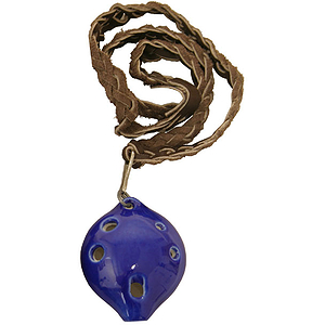 "Ocarina, Necklace, Soprano D, 3"" X 1.5"""
