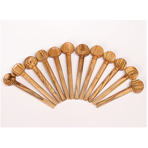 Oud Pegs, Olive Wood, Set of 12