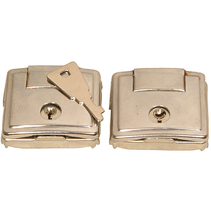 Sitar Hard Case Latches (2) Silver