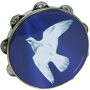 """Remo Tambourine, 8"""", Religious Dove"""