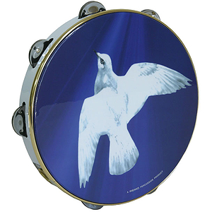 """Remo Tambourine, 10"""", Religious Dove"""