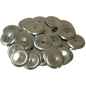 Steel Tambourine Jingles, 100 Count