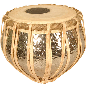 Tabla, Nickeled Embossed, Bayan Only