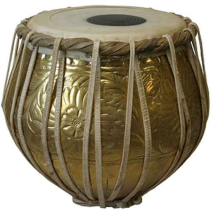 Tabla, Brass Embossed, Bayan Only