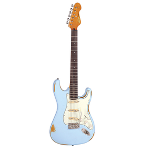 Vintage Guitars Icon V6 Electric Guitar - Distressed Laguna Blue