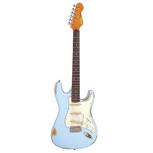 Vintage Guitars Icon V6 Electric Guitar - Distressed Laguna Blue