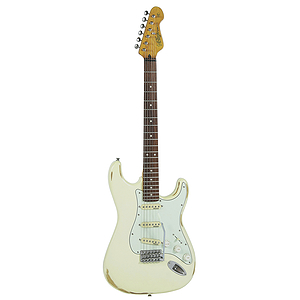 Vintage Guitars Icon V6 Electric Guitar - Distressed White