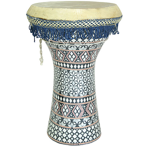 Mosaic Wooden Doumbek, Large