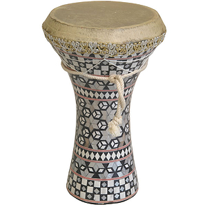 Mosaic Wooden Doumbek, Medium