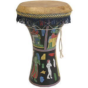 Pharaonic Wooden Doumbek, Large