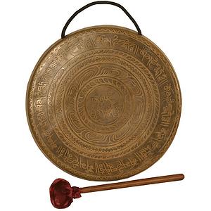 """Tibetian Prayer Gong, 10"""" (25cm), Beater"""