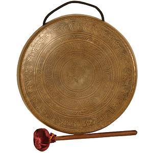 """Tibetian Prayer Gong, 11"""" (28cm), Beater"""
