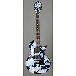 Fernandes Monterey Deluxe Electric Guitar - Ocean Camouflage