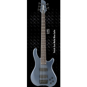 Fernandes Tremor 5 Deluxe 5-String Bass Guitar - Gun Metal Blue Satin