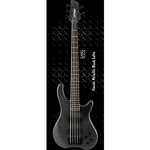 Fernandes Tremor 5 Deluxe 5-String Bass Guitar - Metallic Black Satin