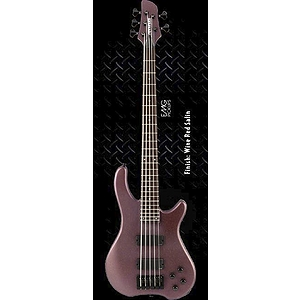 Fernandes Tremor 5 Deluxe 5-String Bass Guitar - Wine Red Satin