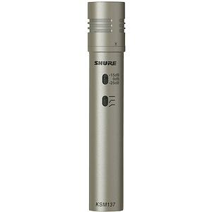 Shure KSM137/SL Studio Cardioid Condenser Instrument Microphone - Stereo Pair