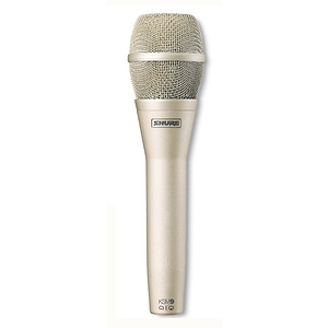 Shure KSM9-SL Cardioid/Supercardioid Condenser Vocal Microphone - Champagne/Silver Finish