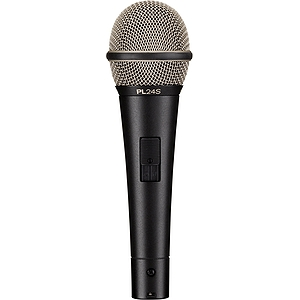 Electro-Voice PL24s Supercardioid Dynamic Vocal Microphone - with On/Off Switch