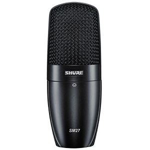 Shure SM27 Multi-Purpose Cardioid Condenser Microphone