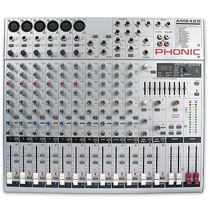 Phonic AM 642D 10 Channel Compact Mixer w/ 2 group 9-band GEQ and Digital FX
