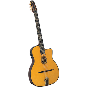 Gitane DG-455 Acoustic/Electric Selmer Style Jazz Guitar Outfit